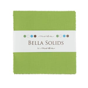 Small Image of Moda Fabric Charm Pack Bella Solids Fresh Green