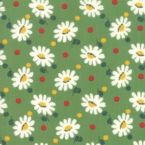 Moda Fabric Bubble Pop Big Daisy Green