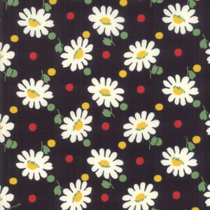 Moda Fabric Bubble Pop Big Daisy Black