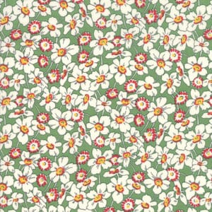 Moda Fabric Bubble Pop Apron Flowers Light Green