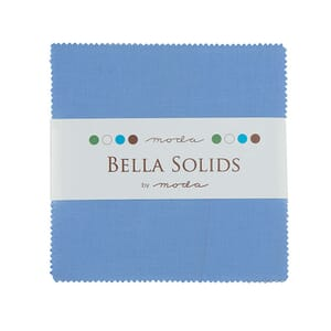 Large Image of Moda Fabric Bella Solids Charm Pack 30s Blue
