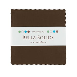 Large Image of Moda Fabric Bella Solids Charm Pack Brown