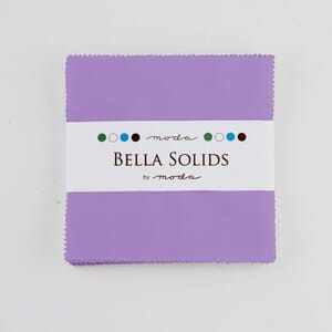 Large Image of Moda Fabric Bella Solids Charm Pack Hyacint