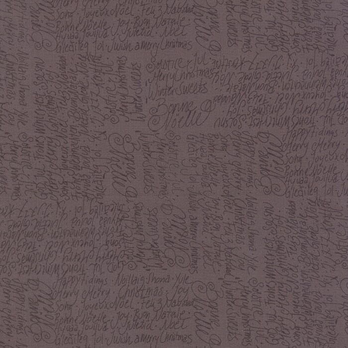 Moda Christmas Fabric JOL Text Brown - End Of Roll   1.00 Metre Pack