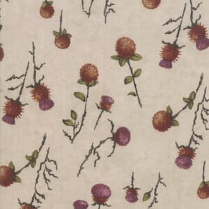 Swatch Image of Moda Fabric Country Charm Thistle Clover Tan