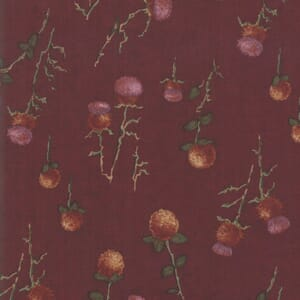 Swatch Image of Moda Fabric Country Charm Thistle Clover Red