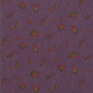 Swatch Image of Moda Fabric Country Charm Falling Leaves Purple