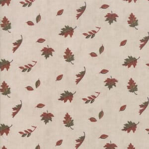 Swatch Image of Moda Fabric Country Charm Falling Leaves Tan