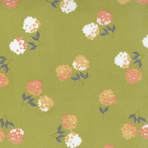 Small Image of the Moda Cozy Up Clover Moss Fabric 29121 15