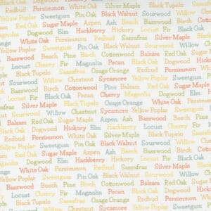 Large Image of the Moda Cozy Up Trees Text Cloud Fabric 29124 11