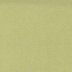 Large Image of the Moda Cozy Up Pin Dot Moss Fabric 29126 15