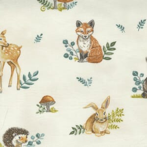 Large Image of the Moda Effies Woods Animals Cloud Fabric 56011 11