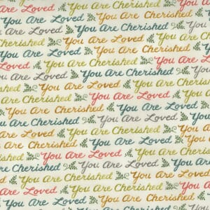 Large Image of the Moda Effies Woods Script Love Cloud Fabric 56013 11