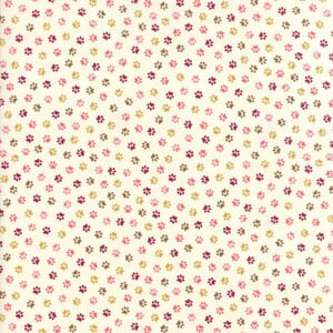 Small Image of Moda Fabric Woof Woof Meow Pitter Patter Pink Cream