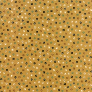 Small Image of Moda Fabric Woof Woof Meow Pitter Patter Gold