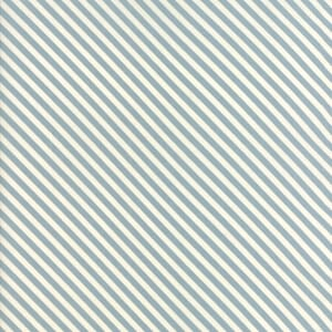 Small Image of Moda Fabric Woof Woof Meow Bias Tripe Aqua Cream