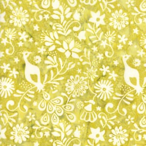 Small Image of Moda Fabric Longitude Batiks Citrine 27259-77