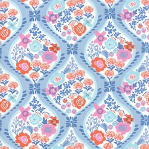 Small Image of Moda Fabric Voyage Meuse Baltic Blue