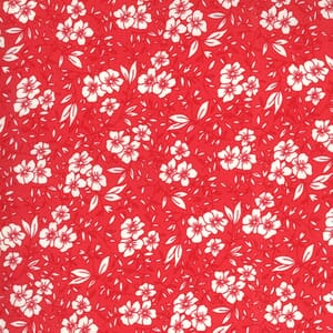 Moda Fabric 30s Playtime Friendly Blooms Scarlet 33592 28