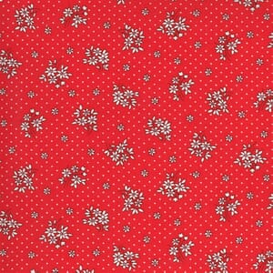 Moda Fabric 30s Playtime Bouquet Toss Scarlet 33595 18