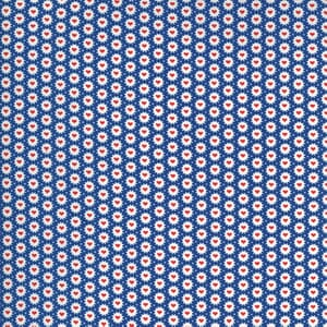 Moda Fabric 30s Playtime Be Mine Hearts Bluebell 33598 17