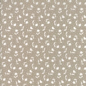 Moda Farmers Daughter Bloom Toss Taupe Quilting Fabric