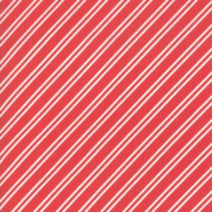 Moda Fabric At Home Diagonal Stripe Red