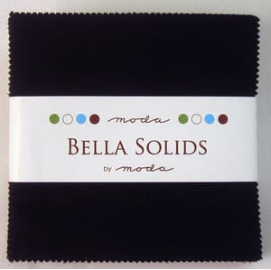 Small Image of Moda Fabric Bella Solids Charm Pack Black