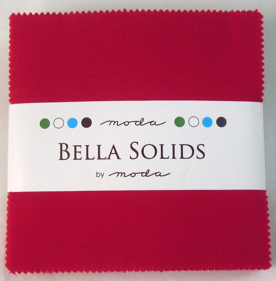 Moda Fabric Bella Solids Charm Pack Red
