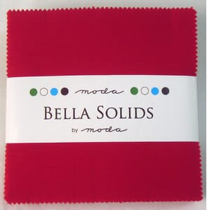Small Image of Moda Fabric Bella Solids Charm Pack Red