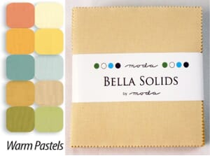 Small Image of Moda Fabric Bella Solids Charm Pack Warm