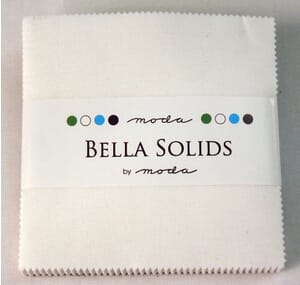 Small Image of Moda Fabric Bella Solids Charm Pack White