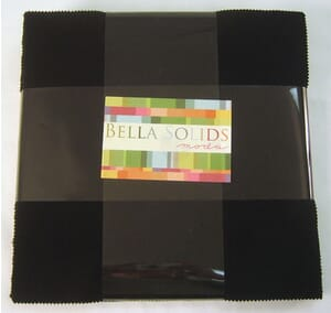 Small Image of Moda Fabric Bella Solids Layer Cake Black