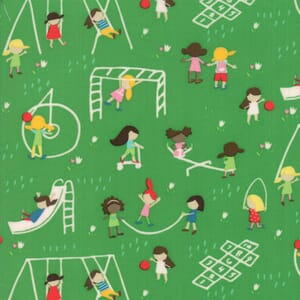 Large Image of Moda Fabric Best Friends Forever Playground Green