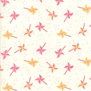 Large Image of Moda Fabric Best Friends Forever Blowing In The Wind White Pink
