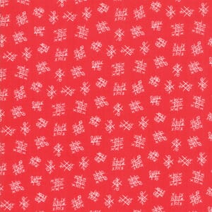 Large Image of Moda Fabric Best Friends Forever Tic Tac Toe Red