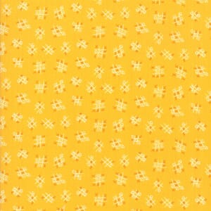 Large Image of Moda Fabric Best Friends Forever Tic Tac Toe Dark Yellow
