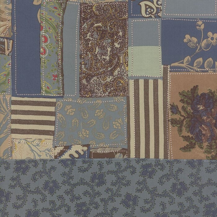 Moda Fabric Bon Voyage Pre Quilted Fabric Patchwotk Blue