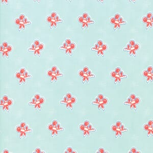 Moda Fabric Catalina Cherries Green