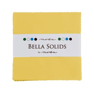 Moda Fabric Bella Solids Charm Pack 30s Yellow