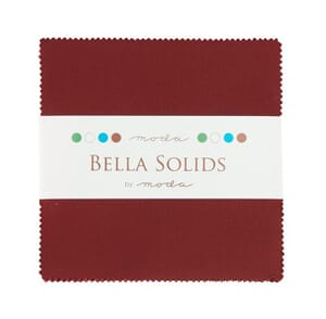 Small Image of Moda Fabric Charm Pack Bella Solids Burgundy