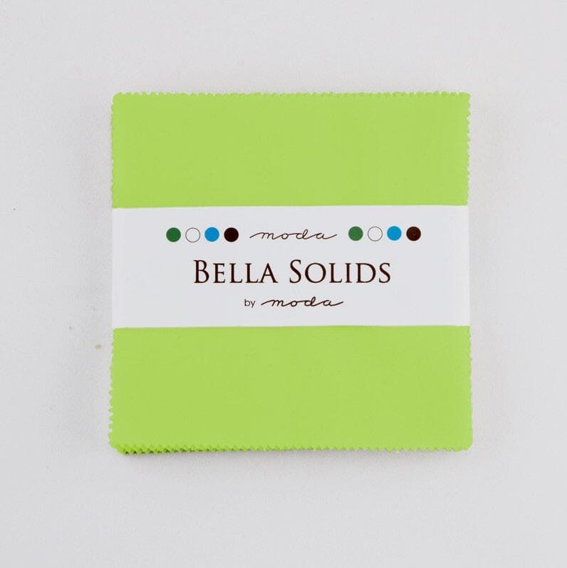 Moda Fabric Charm Pack Bella Solids Lime