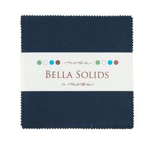 Small Image of Moda Fabric Charm Pack Bella Solids Navy