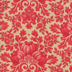 Large Image of Moda Fabric Cinnaberry Almond Cranberry Damask