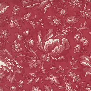 Moda Fabric Cranberries and Cream Berry Toile Cranberry 44260 12