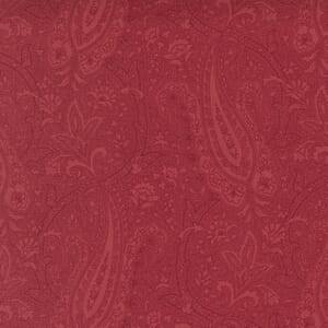 Moda Fabric Cranberries and Cream Paisley Party Cranberry 44262 11