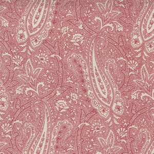 Moda Fabric Cranberries and Cream Paisley Party Sugar Cranberry 44262 14