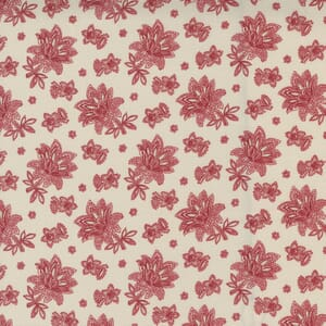 Moda Fabric Cranberries and Cream Jacobean Paisley Sugar Cranberry 44264 14