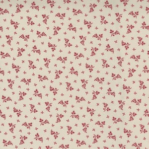 Moda Fabric Cranberries and Cream Spice Leaf Sugar 44266 14
