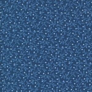 Moda Fabric Crystal Lane Berries and Bits Crystal Blue 2983 13